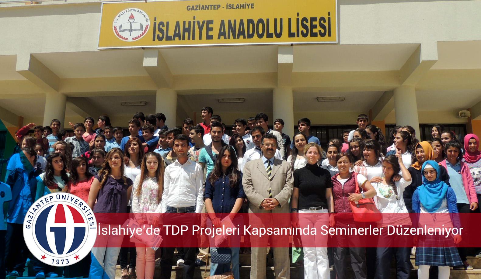 İslahiye'de TDP Projeleri Kapsamında Seminerler Düzenleniyor