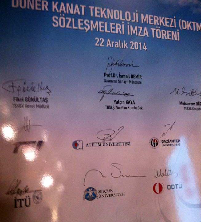 Döner Kanat Teknoloji Merkezi (DKTM) Projeleri Sözleşmeleri İmzalandı (2)