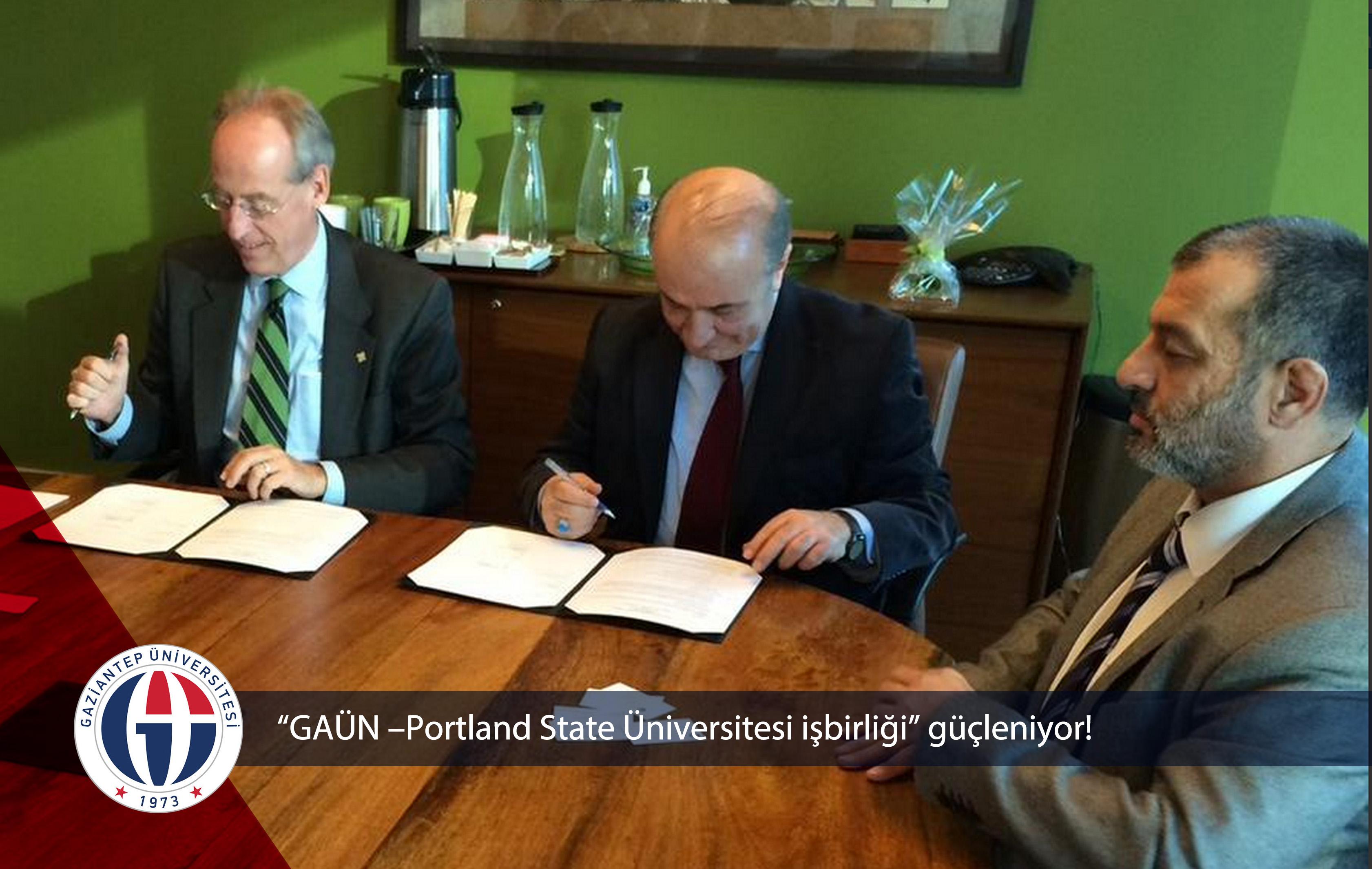 GAÜN –Portland State Üniversitesi işbirliği