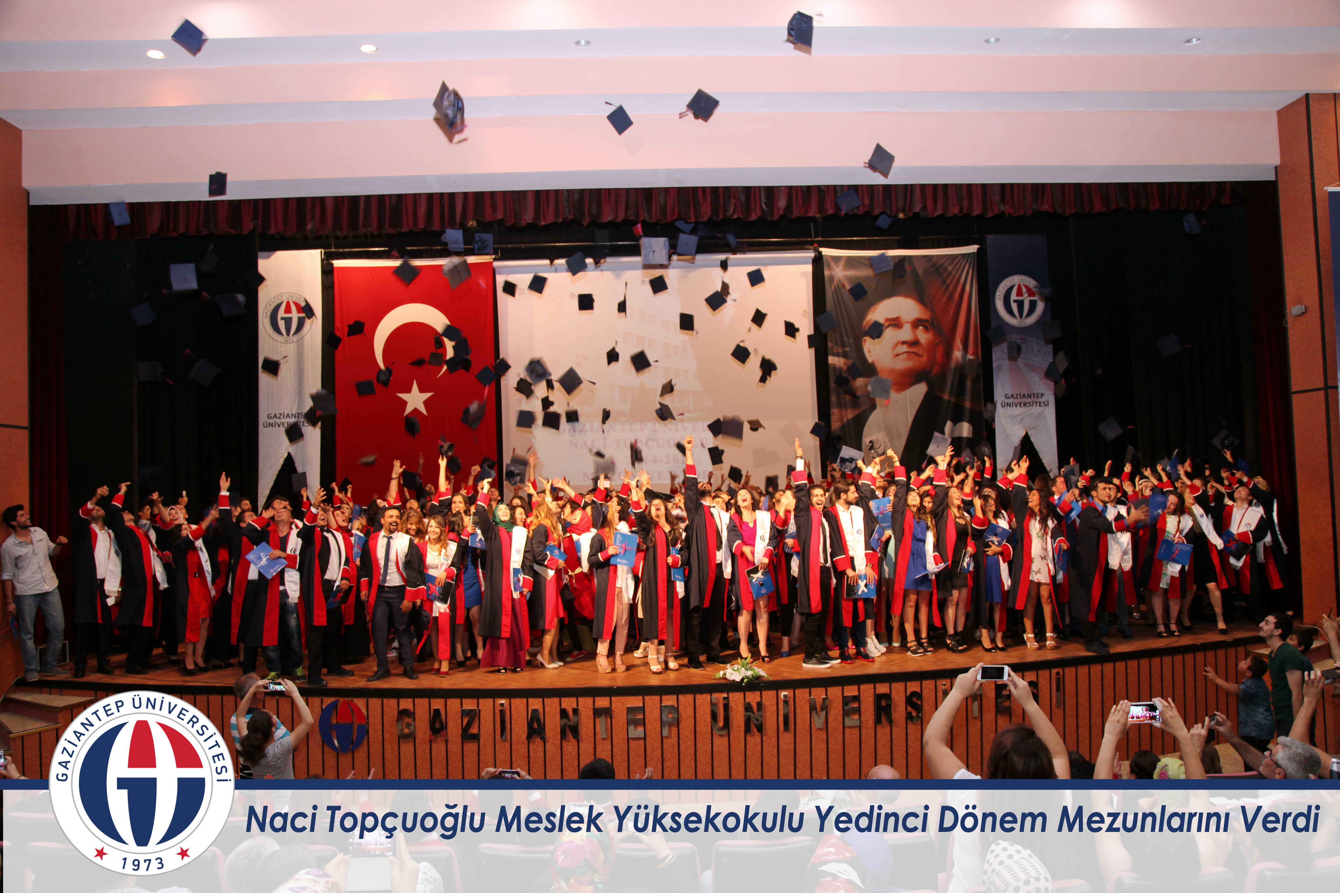 Naci Topçuoğlu Meslek Yüksekokulu Yedinci Dönem Mezunlarını Verdi_
