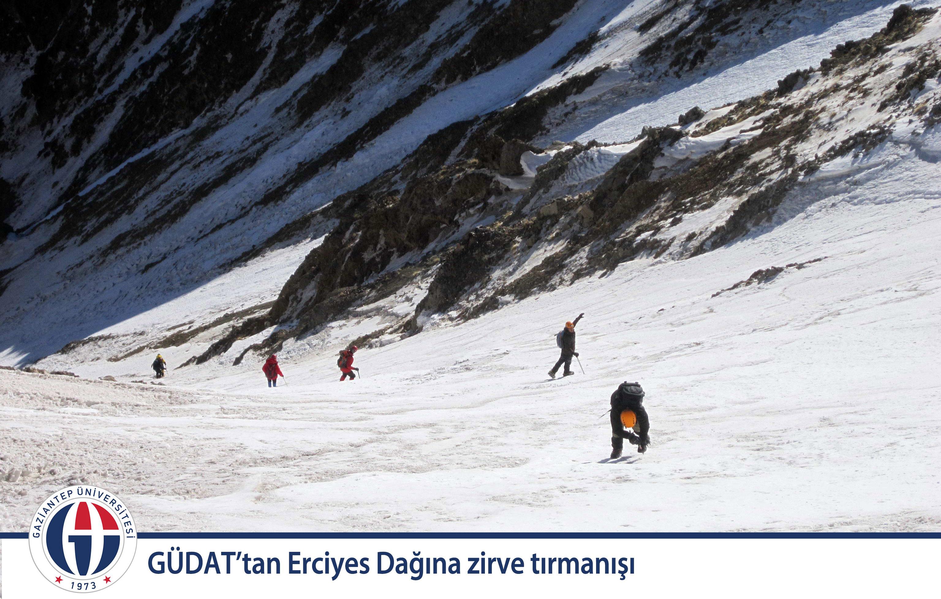 GÜDAT'tan Erciyes Dağına zirve tırmanışı_