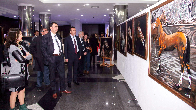 Turan'ın Atları konulu resim sergisi açıldı (2)