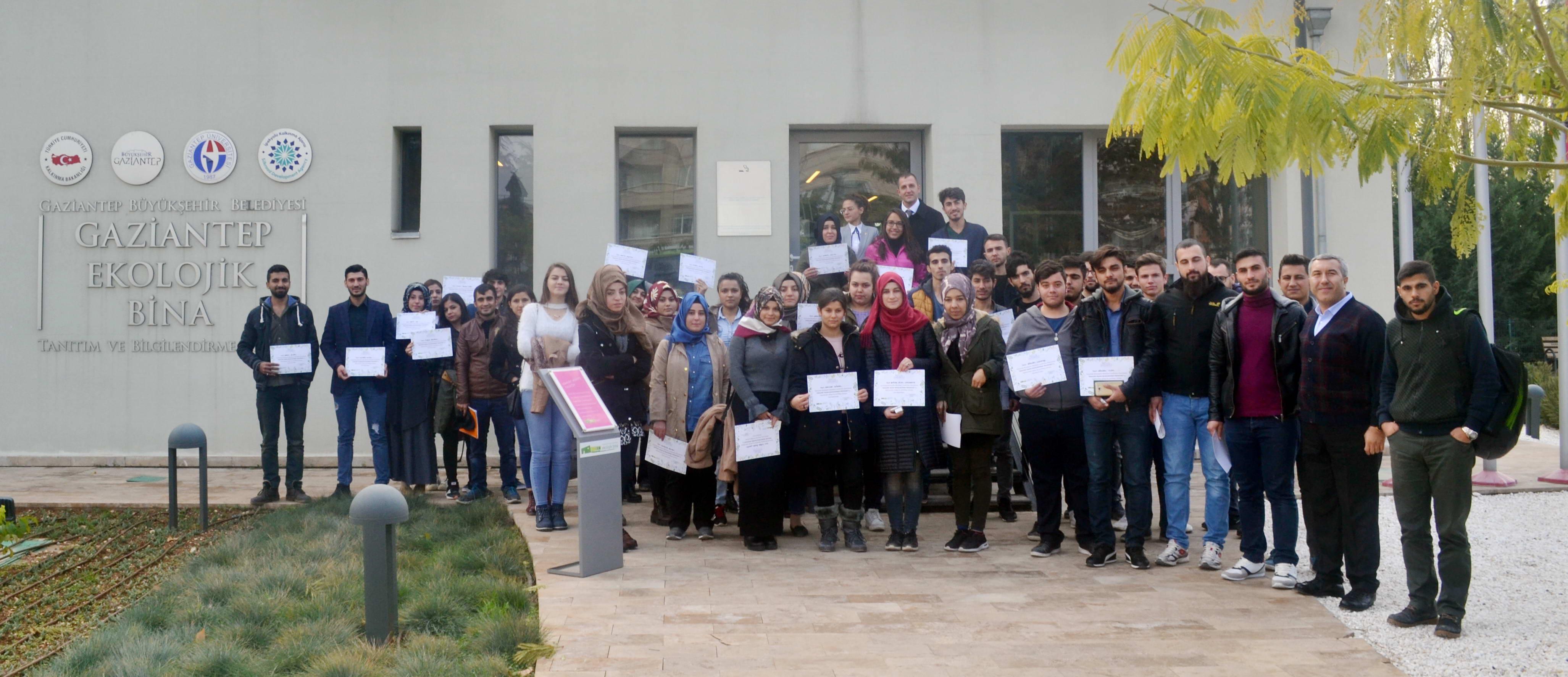 Oğuzeli MYO Öğrencilerinden Ekolojik Binaya Ziyaret -  (1)