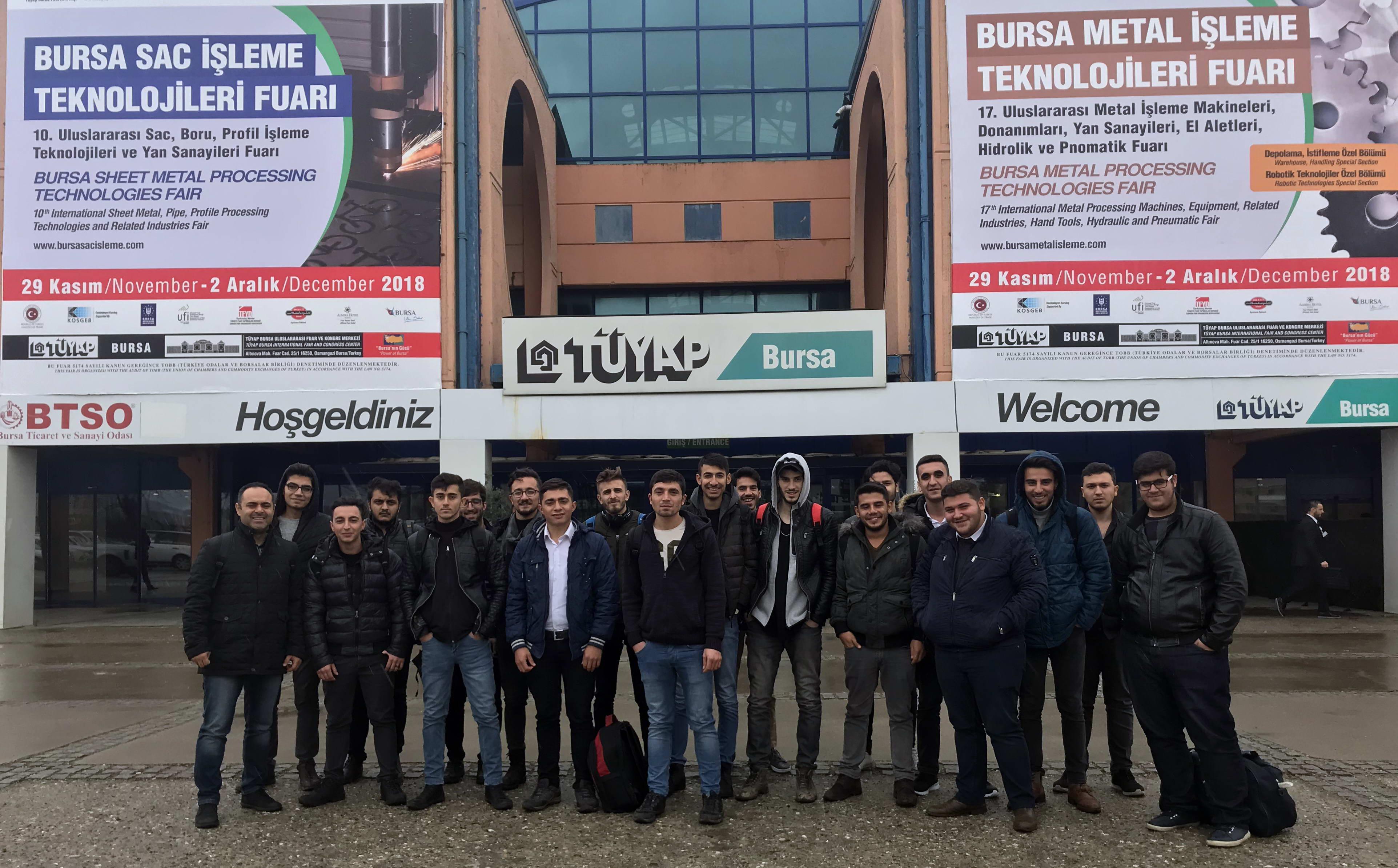 Naci Topçuoğlu Meslek Yüksekokulu Öğrencilerinden Bursa Fuarına Teknik Gezi -  (1)