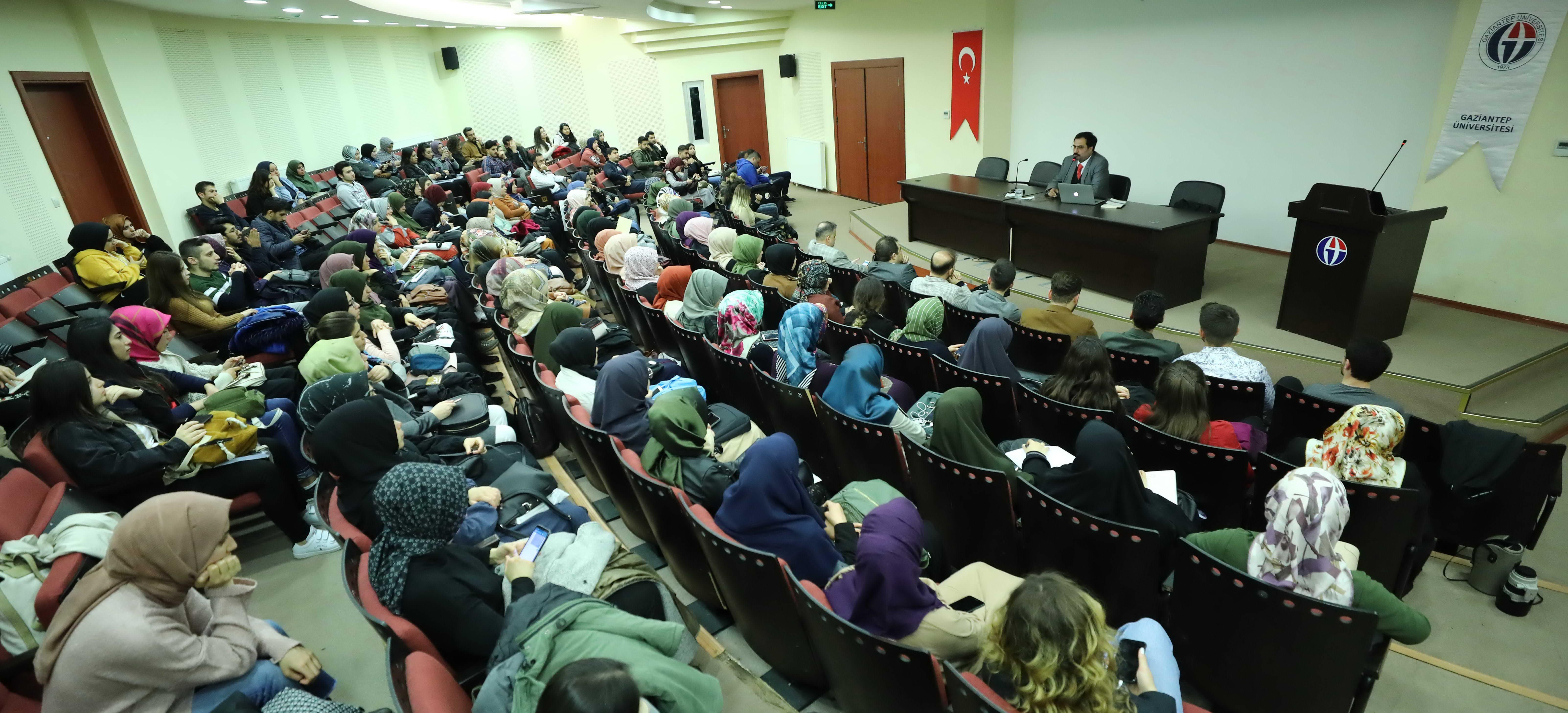 GAÜN ÖĞRETİM ÜYESİ GENÇ'TEN İSTİKLAL MARŞI KONFERANSI -  (2)