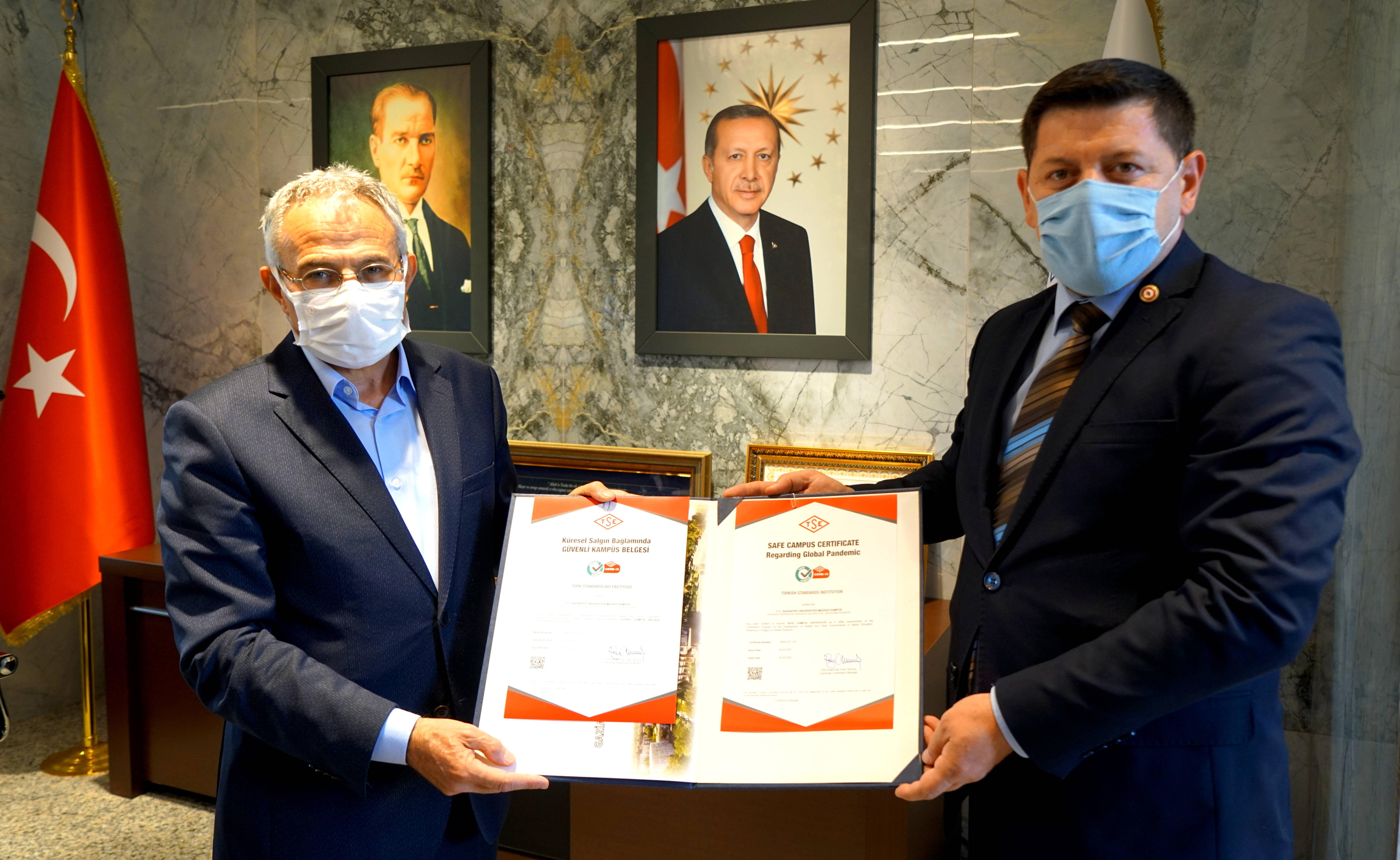 BÖLGEDE İLK GÜVENLİ KAMPÜS BELGESİ GAZİANTEP ÜNİVERSİTESİ'NE-