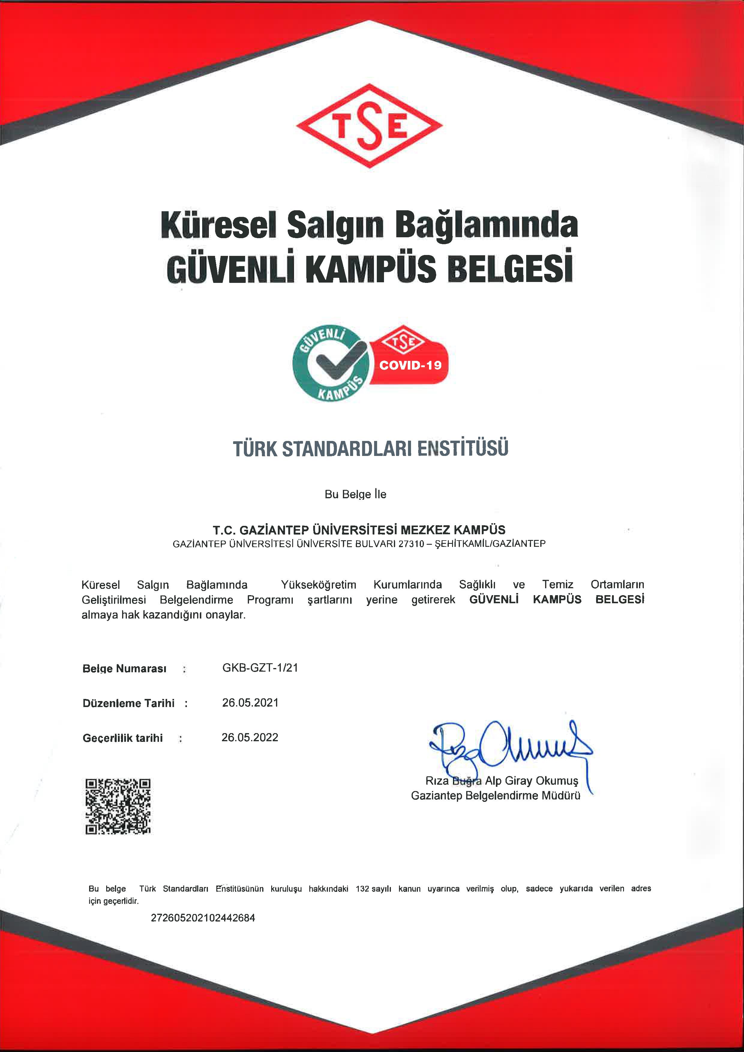 GAZİANTEP ÜNİVERSİTESİ MERKEZ KAMPÜS-TR